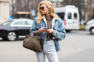 a denim jacket lined with faux shearling
