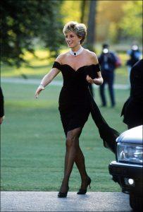 Princess Diana in her revenge dress