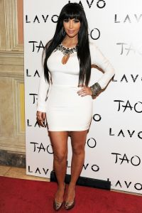 Kim Kardashian in her revenge dress