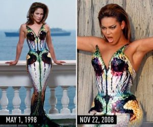 J.Lo and Beyonce in mermaid gowns