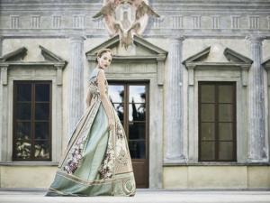 royal wedding dress with prints on it