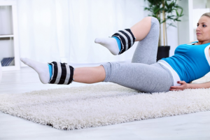 a girl doing leg-exercise