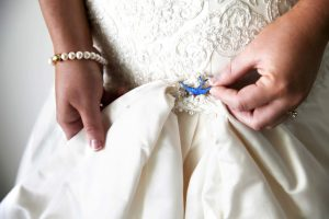 wearing something old on wedding day