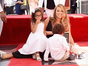 Mariah Carey with her twins